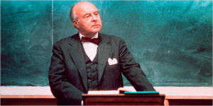 "John Houseman, a professor in ""The Paper Chase,"""